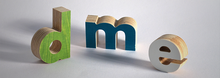 Different colored 3d wood letters