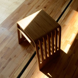 Wooden CNC routed stacking stool 1