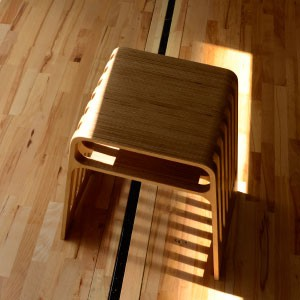 Wooden CNC routed stacking stool 2