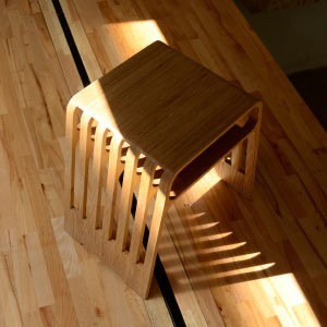 Wooden CNC routed stacking stool 3