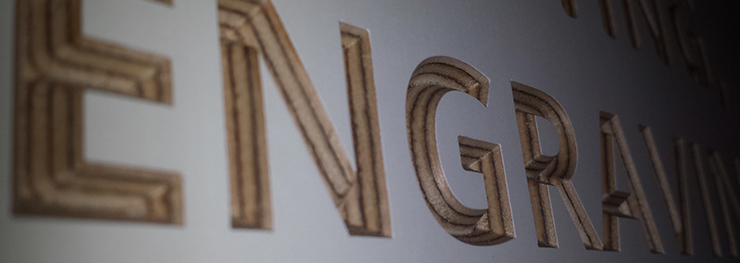 V-carve engraving
