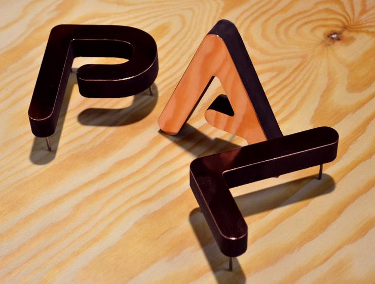 3-D-Buchstaben fräsen aus küpfer