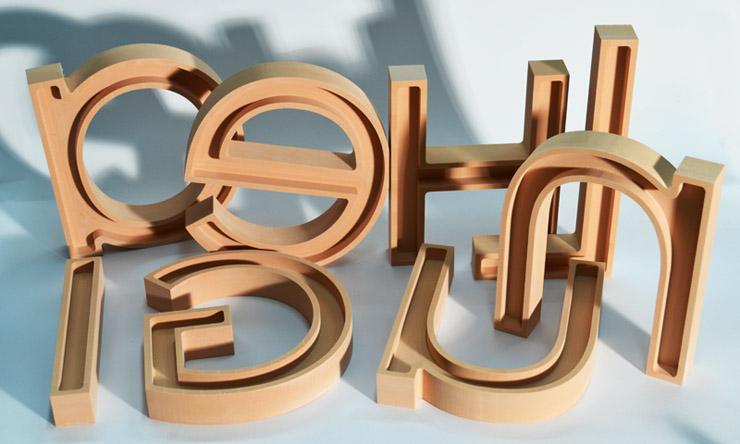 3-D-Buchstaben fräsen aus sika